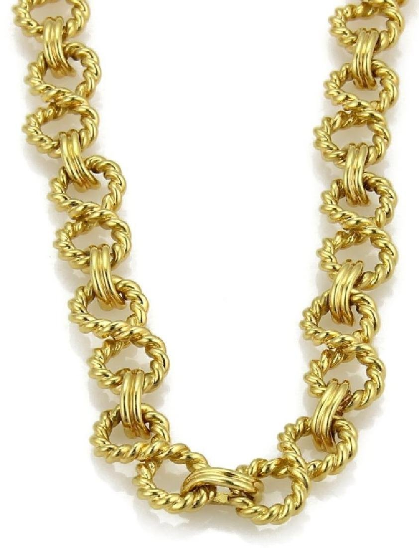 Tiffany & Co. 18k Gold Infinity Wire Link Necklace