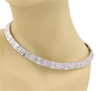 Bvlgari Parentesi Diamond 18k Gold Necklace