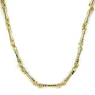 Tiffany Co 18k Yellow Gold Bar Link Necklace