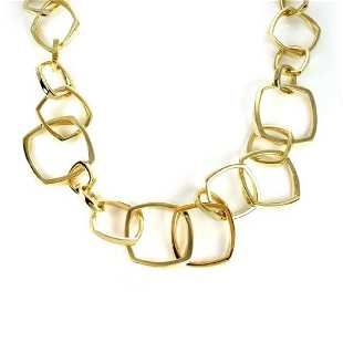 89a8977efda Tiffany   Co. Frank Gehry 18k Torque Link Necklace