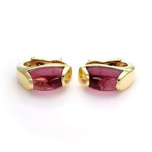 Bvlgari Tronchetto Pink Tourmaline 18k Earrings