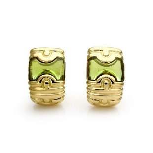 Bvlgari Parentesi Green Tourmaline 18k Earrings