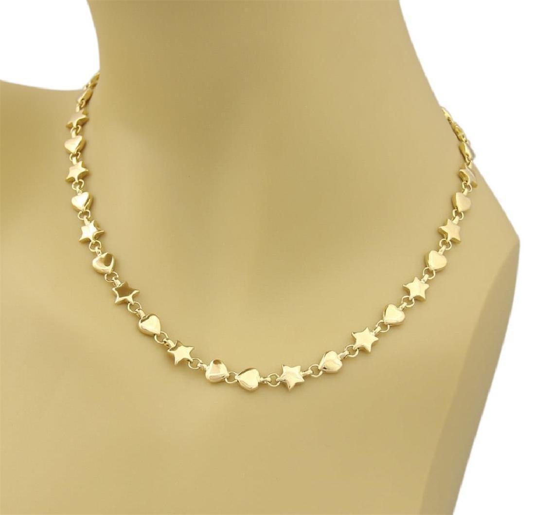 ece556538 Tiffany & Co. 18k Gold Hearts & Star Link Necklace - Mar 01, 2019 | Premier  Estate Holdings in FL