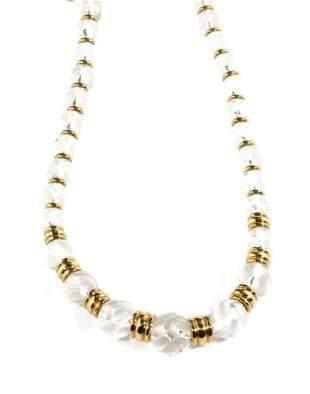 Boucheron 18k Gold Crystal Graduated Bead Necklace