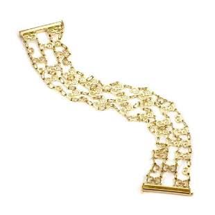 Gucci 18k Gold G Logo Chain Link Wide Bracelet