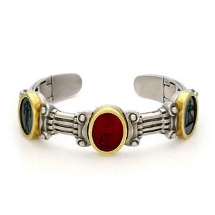 Kieselstein Cord Estate 18k Gold Intaglio Bracelet