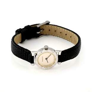 Tiffany Co ATLAS Sterling Leather Band Watch