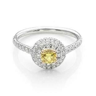 Tiffany Co SOLESTE Diamond Platinum Ring