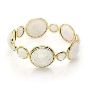 Ippolita Rock Candy 18k Gold Agate Gems Bracelet