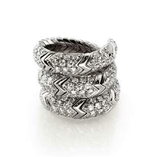 Bvlgari Bulgari SPIGA 2ct Diamond 18k Gold Ring
