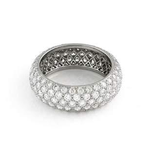 Tiffany Co Platinum Diamond Etoile 5 Raw Ring