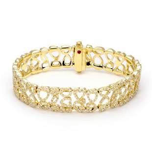 Roberto Coin 6.50ct Diamond 18k Gold Bracelet