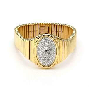 Piaget One Carat Rose Cut Diamond 18k Gold Watch
