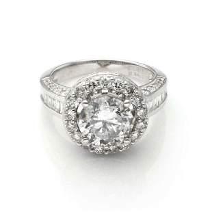 256ct Diamond 184ct Accent 18k Engagement Ring