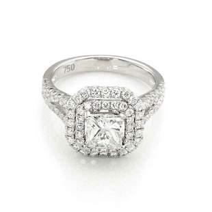 229ct Diamond 18k Gold Engagement Ring GIA Cert