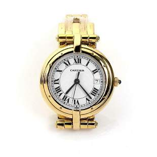 Cartier Panthere 18k Gold Sapphire Crystal Watch