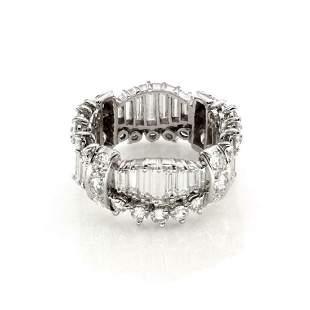 6ct Diamond Platinum All Around Eternity Band Ring