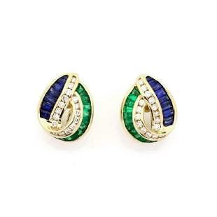 Charles Krypell Diamond Gems 18k Gold Earrings