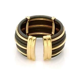 Roberto Coin 18k Gold Polyurethane Cuff Band Ring