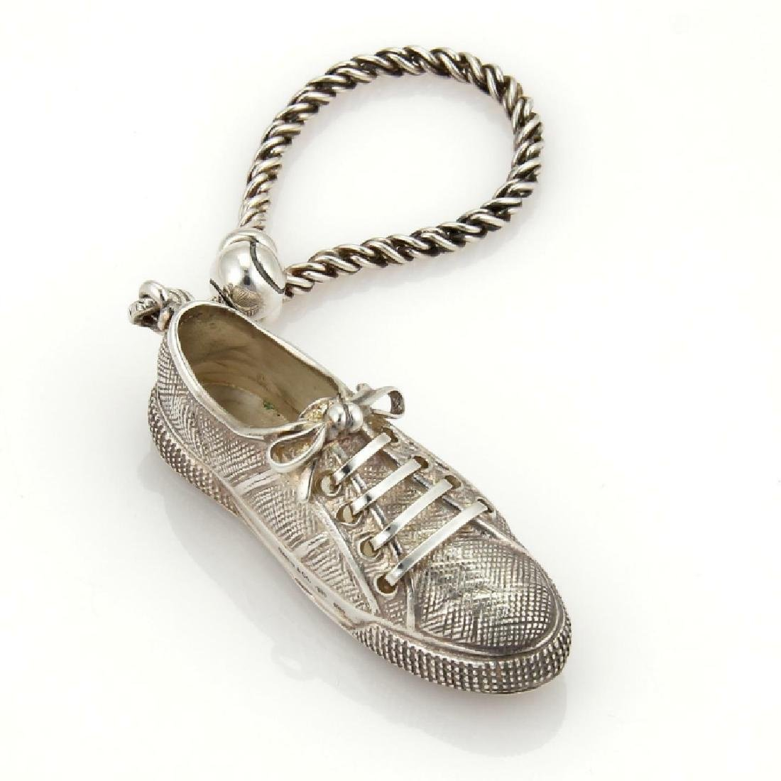 Tiffany & Co Sterling baseball Shoe Key Chain
