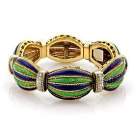 1ct Diamonds 18k Gold Secret Watch Design Bracelet