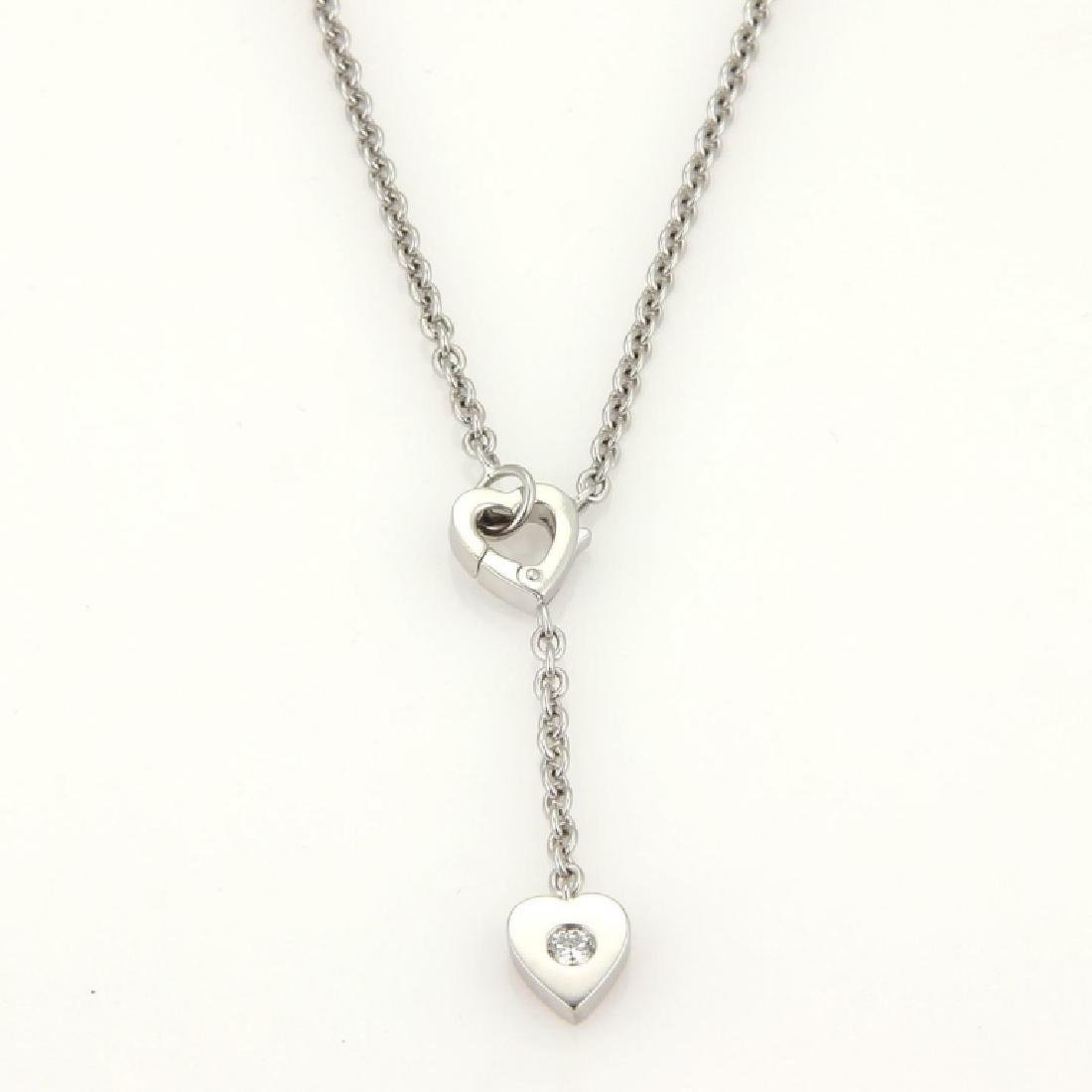 Cartier Mon Amour Diamond 18k Heart Lariat Necklac