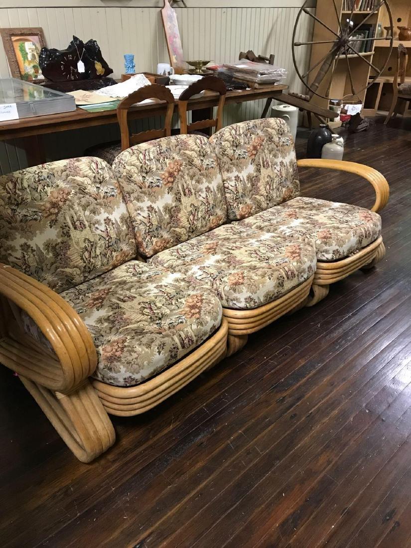 1950's Ratan Loveseat/Chair/Sofa combination set.