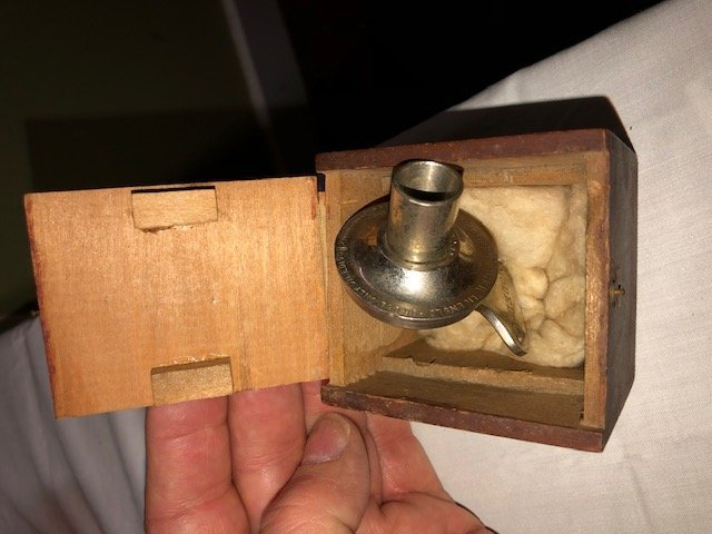 "Vintage Edison Phonograph Model ""D""on wooden rotating - 10"