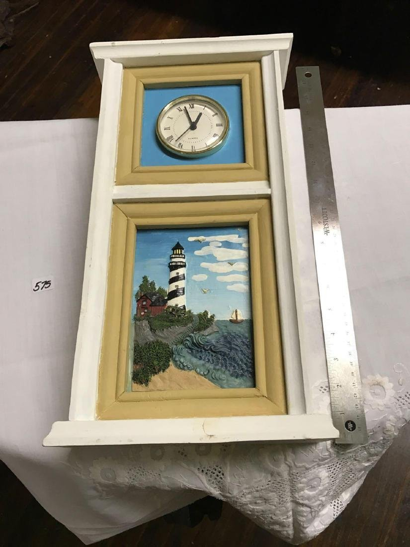 """Old Lighthouse Clock 17""""tall"""