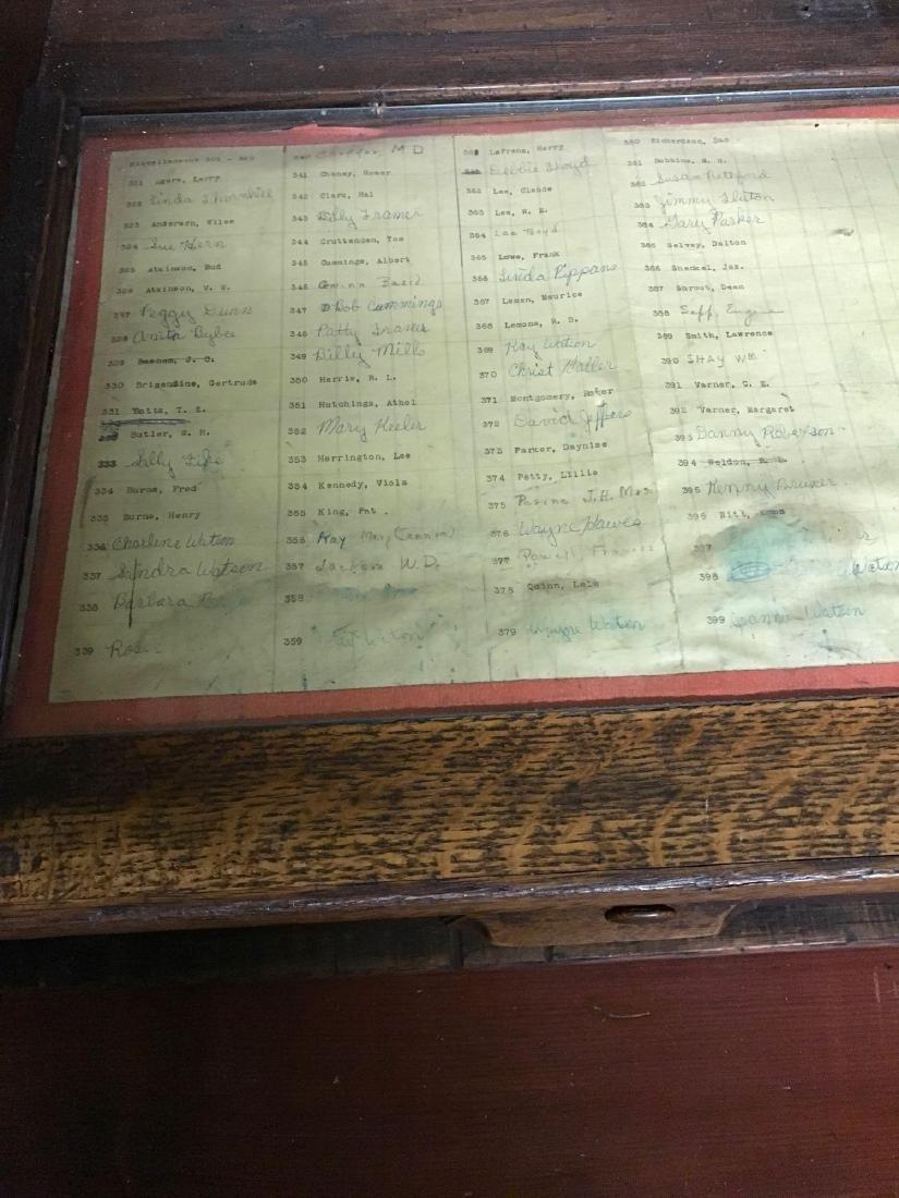 McCaskey, Oak, 1910, triple work station cash register. - 2