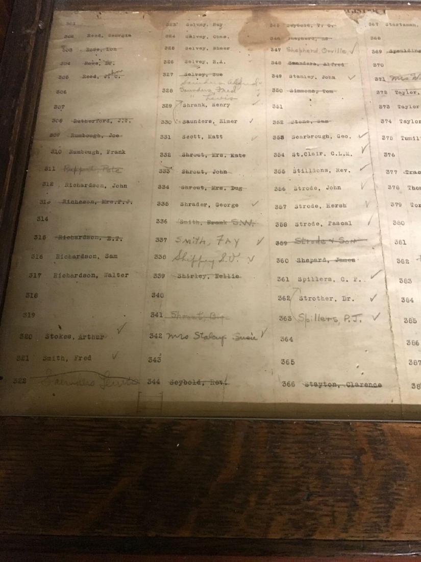 McCaskey, Oak, 1910, triple work station cash register. - 3