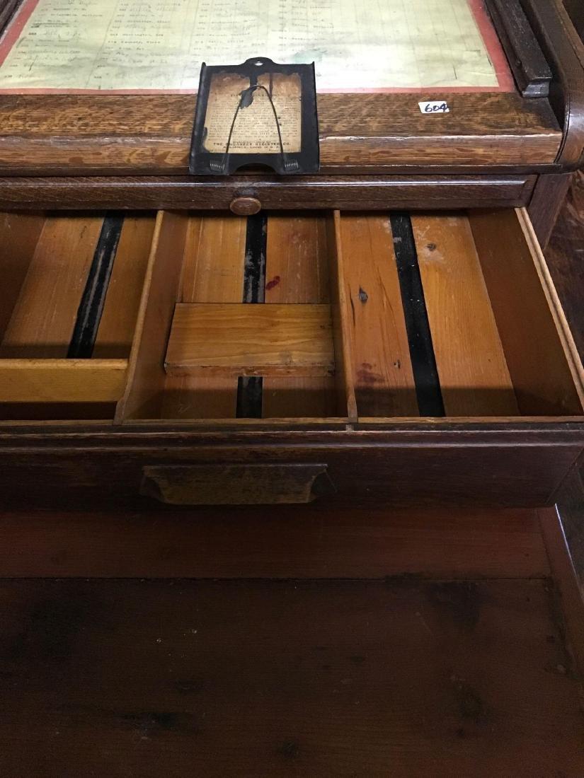 McCaskey, Oak, 1910, triple work station cash register. - 4