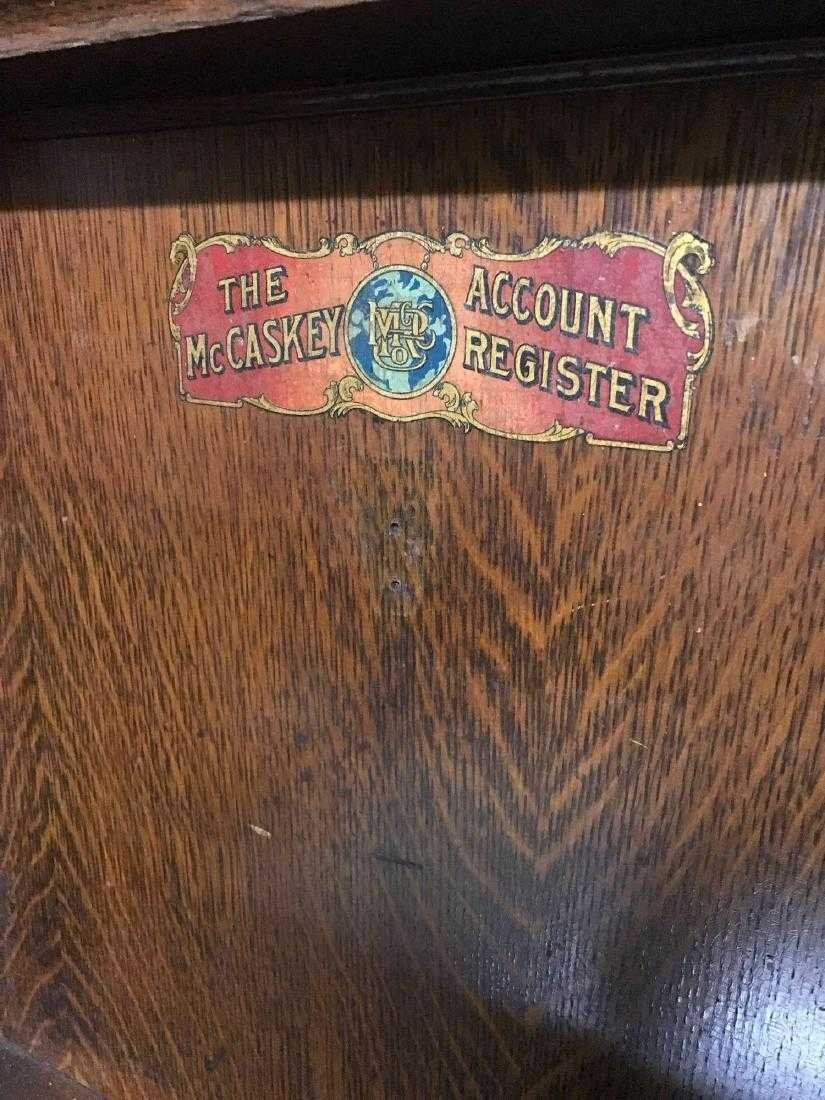 McCaskey, Oak, 1910, triple work station cash register. - 5