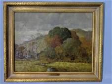 Antique Frederiek Mulhaupt Fall Landscape Oil Painting