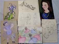 Lot 17 Rosemary Zwick Art Student People Figure Studies
