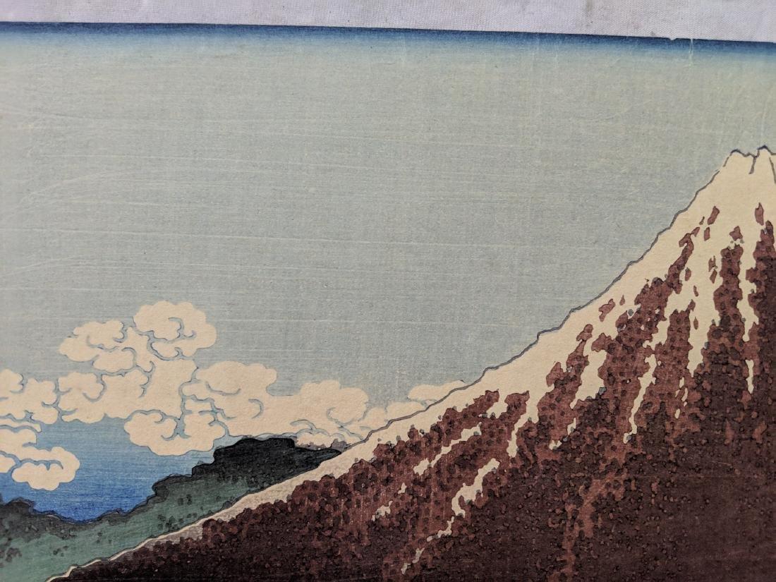 Old Katsushika Hokusai Japanese Woodblock Print Mt Fuji - 3
