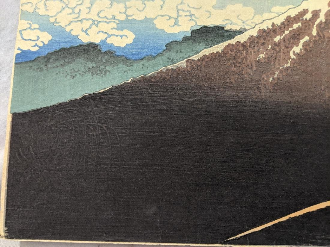 Old Katsushika Hokusai Japanese Woodblock Print Mt Fuji - 5