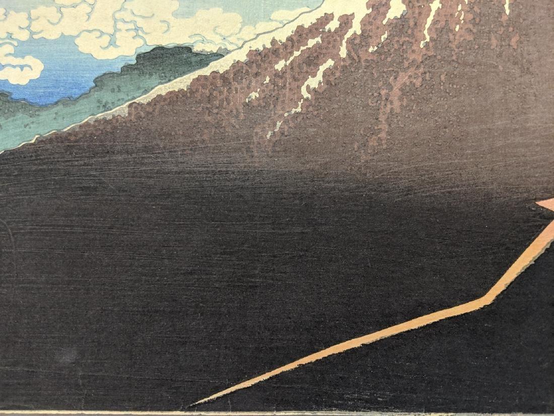 Old Katsushika Hokusai Japanese Woodblock Print Mt Fuji - 6