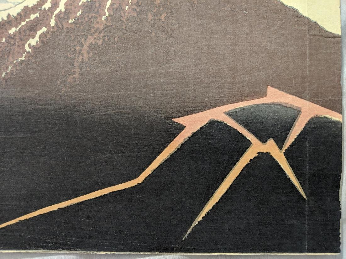 Old Katsushika Hokusai Japanese Woodblock Print Mt Fuji - 7