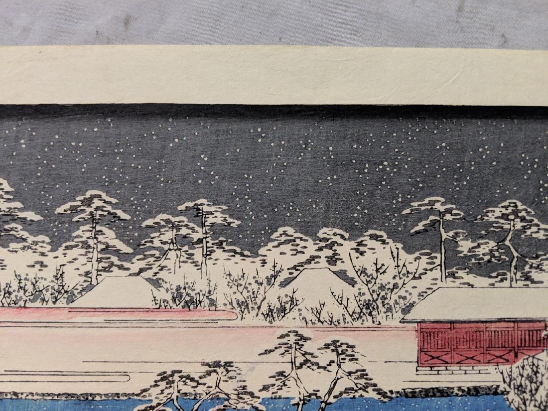 Old Utagawa Hiroshige Japanese Woodblock Print Kameido - 3