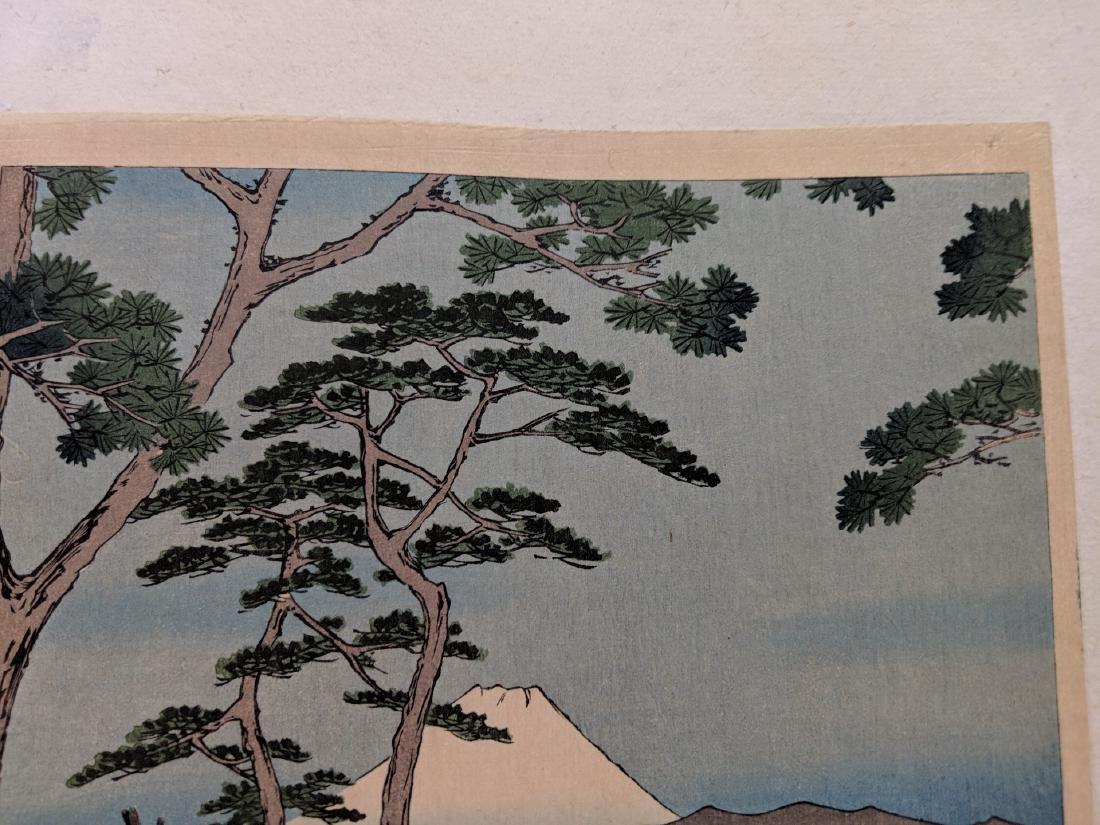 Old Utagawa Hiroshige Japanese Woodblock Print Flower - 2