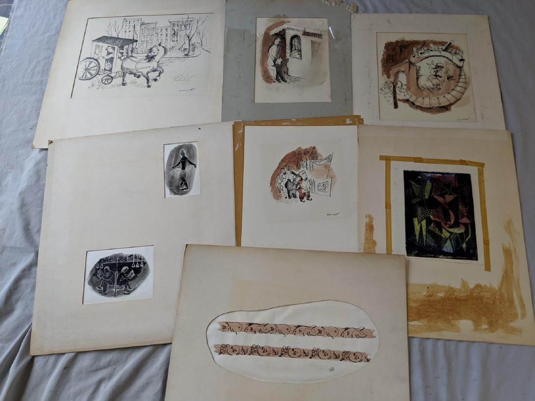 Lot 7 Rosemary Zwick Drawings 7 Prints People Abstract