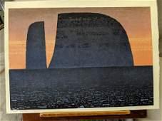 1964 Toshi Yoshida Japanese Woodblock Print Lost World