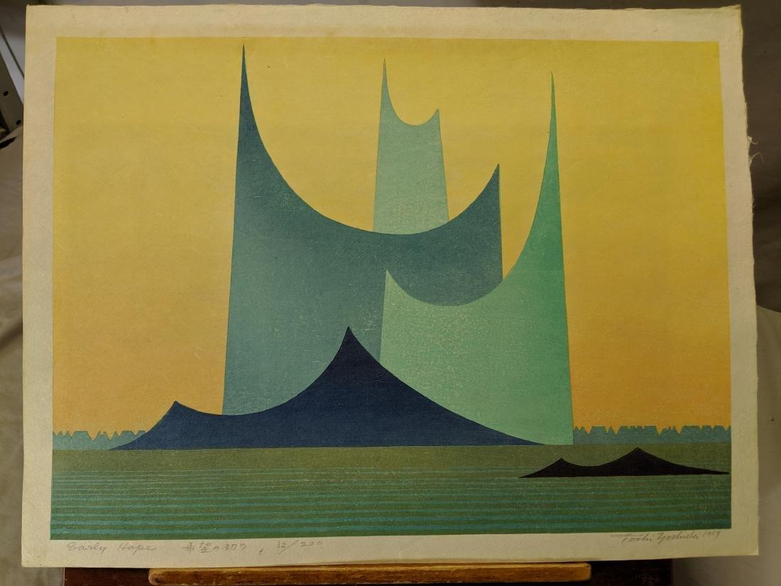 1969 Toshi Yoshida Japanese Woodblock Print Early Hope