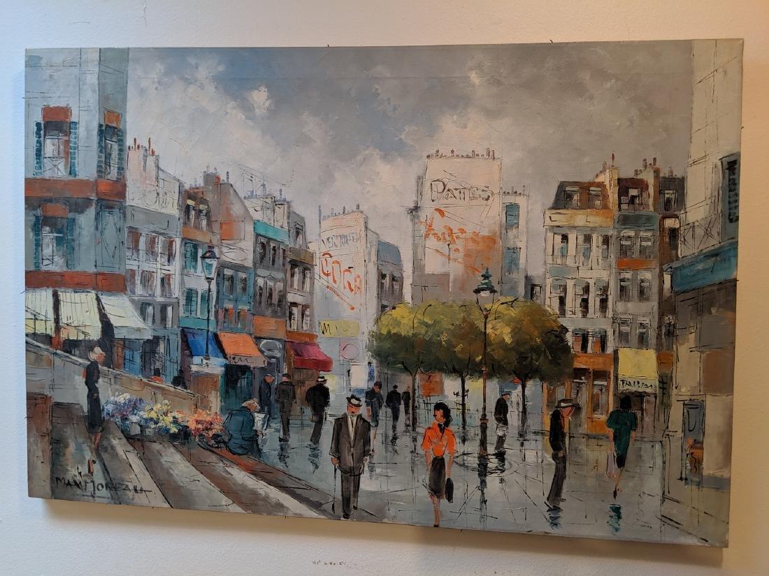 Max Moreau Impressionist Street Scene Oil Painting
