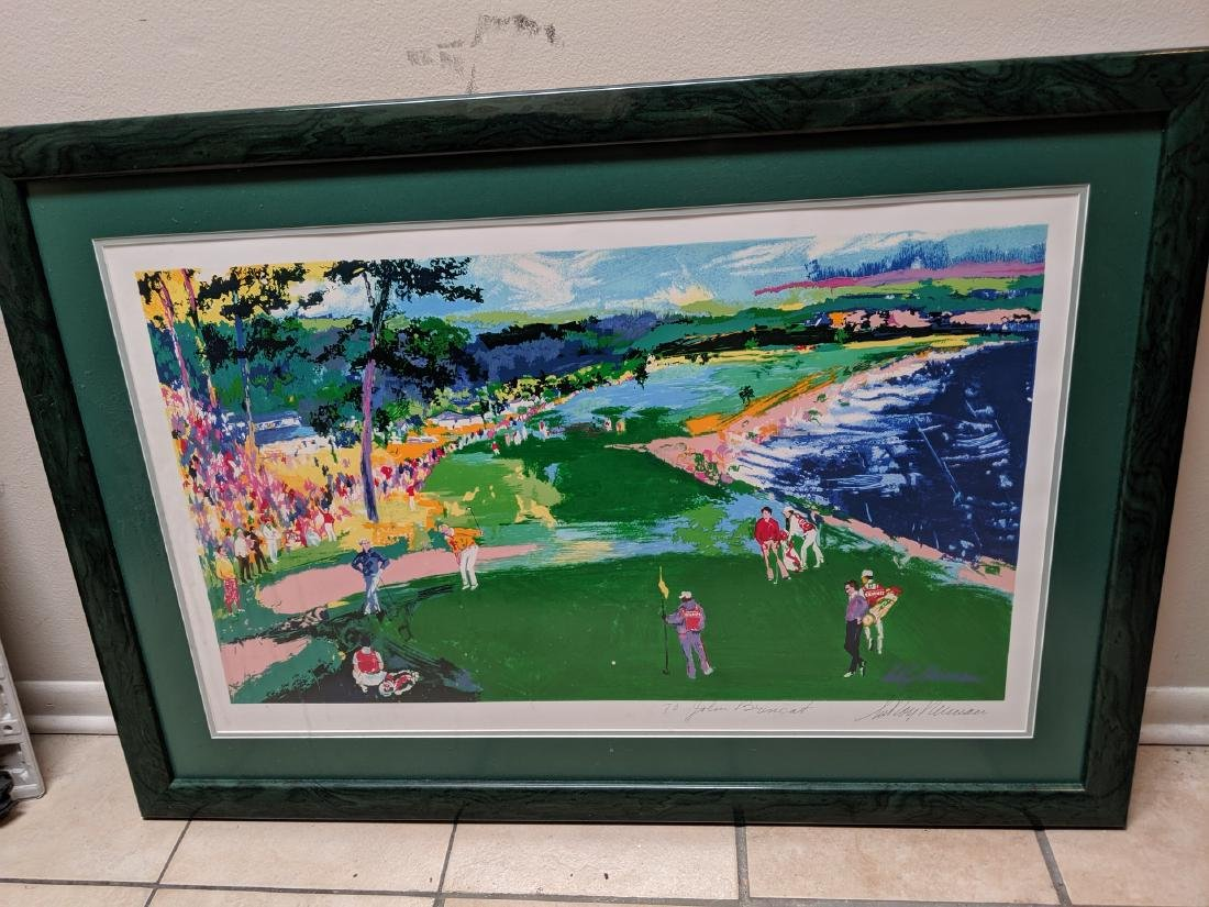Leroy Neiman 18th at Pebble Beach Pencil Signed