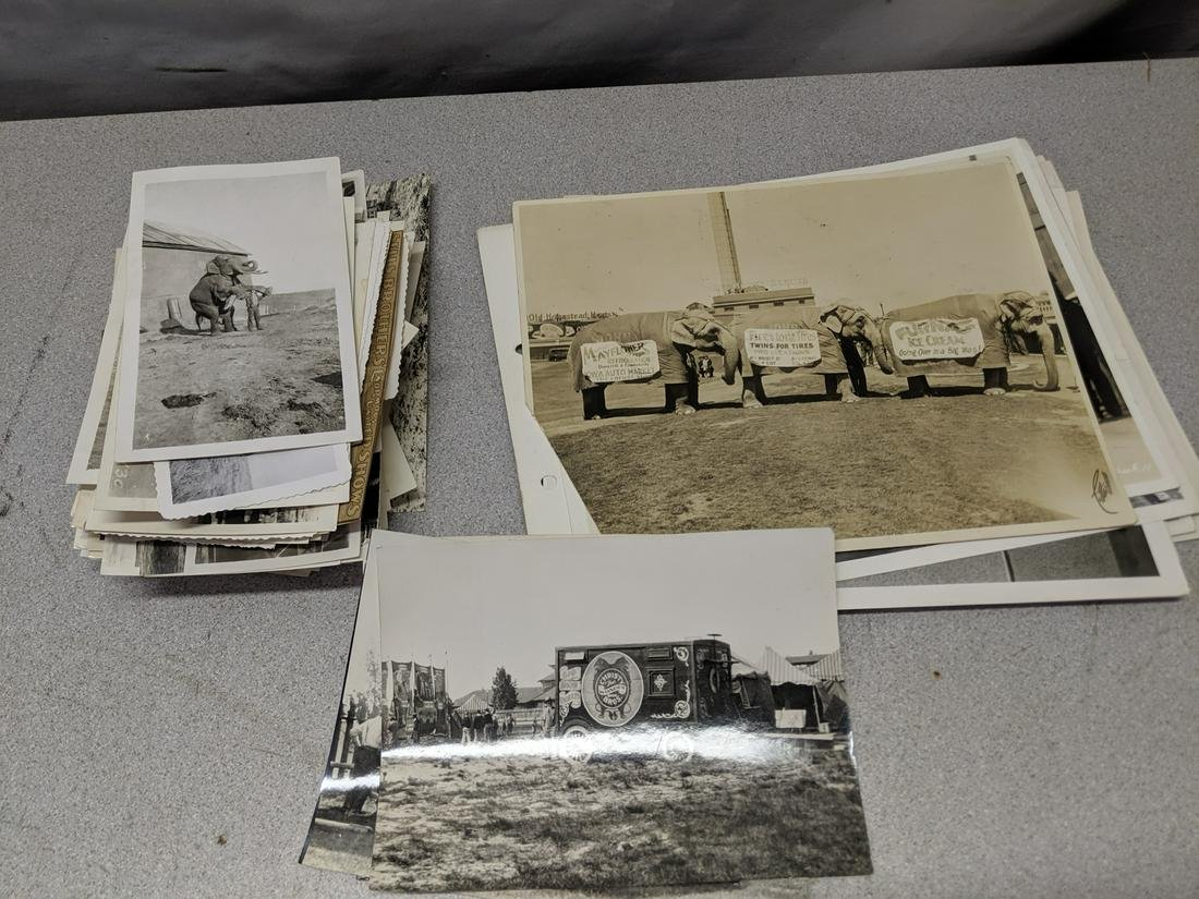 Lot 175 Vintage B&W Circus Traveling Side Show Photos
