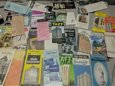 Lot New York Travel Brochures Maps Letters Niagara