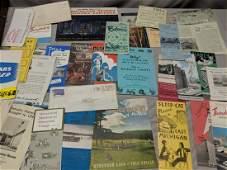 Lot 1950's Travel Brochures Booklets Maps etc Detroit