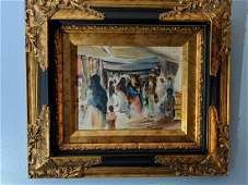Martha Walter Watercolor Painting Persian Market